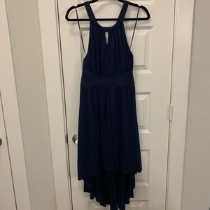 Navy Vince Camuto High Low Dress